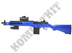 M806A M14 Rifle Style Electric Airsoft Gun Black and Blue